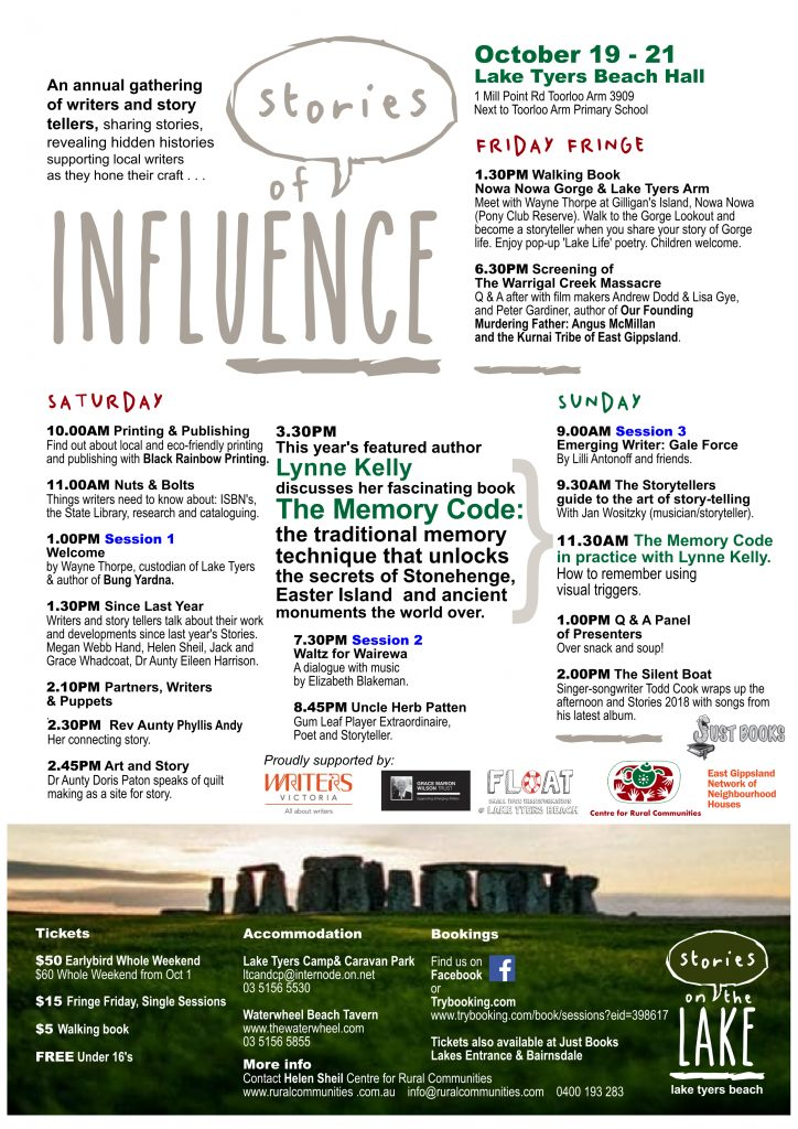 Stories of Influence Poster 2018